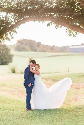 Bride and Groom at Maypop Fields Wedding and Event Venue