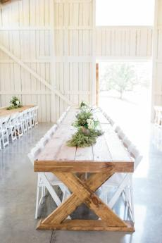 Barn reception at Maypop Fields Wedding and Event Venue
