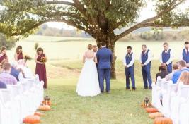 Maypop Fields Wedding and Event Venue outdoor ceremony location under grand oak tree